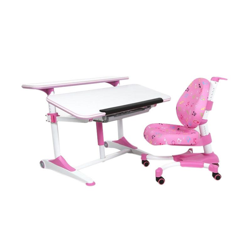 Hummingbird Ergonomic School Desk Pink Meja Belajar Anak