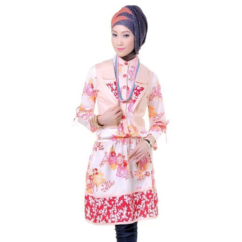 Esme Shortdress E-011015 Pink Muda - Pink Putih