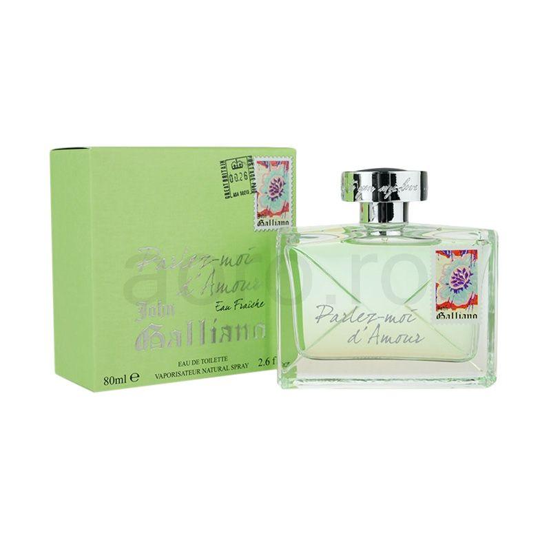 John Galliano Parlez Moi D'Amor Eau Fraiche EDT Parfum Wanita [80 mL]