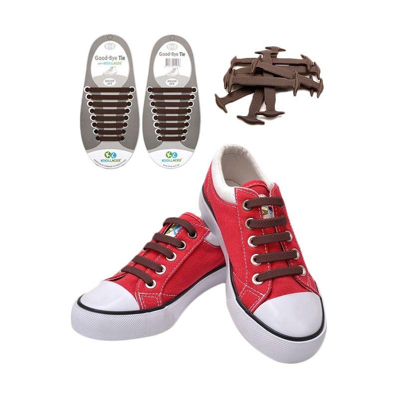Koollaces Silicon Shoe Laces Brown Tali Sepatu