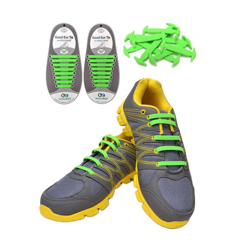 Koollaces Silicon Shoe Laces Green Tali Sepatu