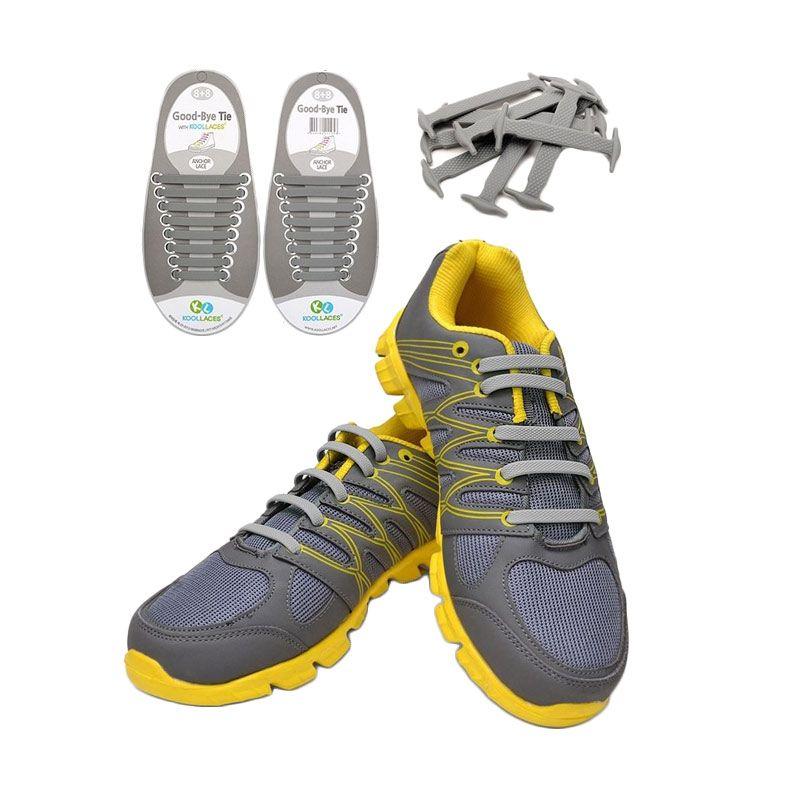Koollaces Silicon Shoe Laces Grey Tali Sepatu