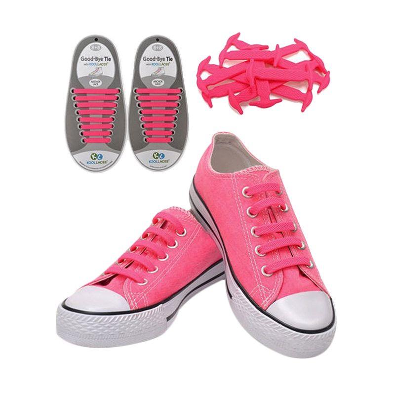 Koollaces Silicon Shoe Laces Pink Tali Sepatu