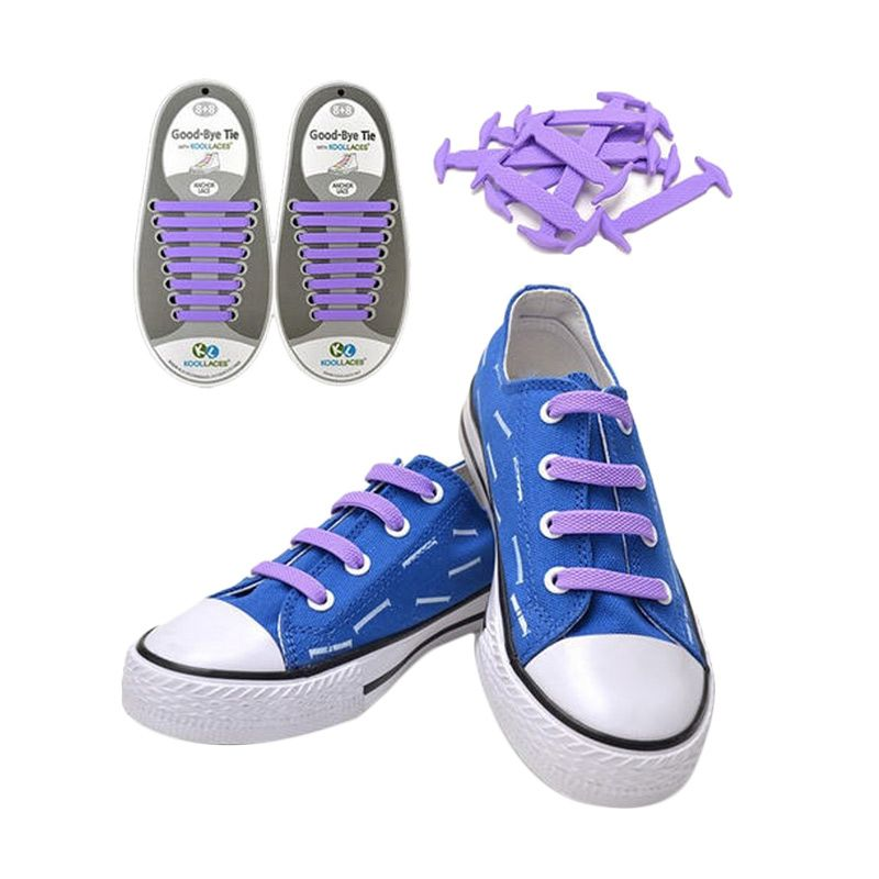 Koollaces Silicon Shoe Laces Purple Tali Sepatu
