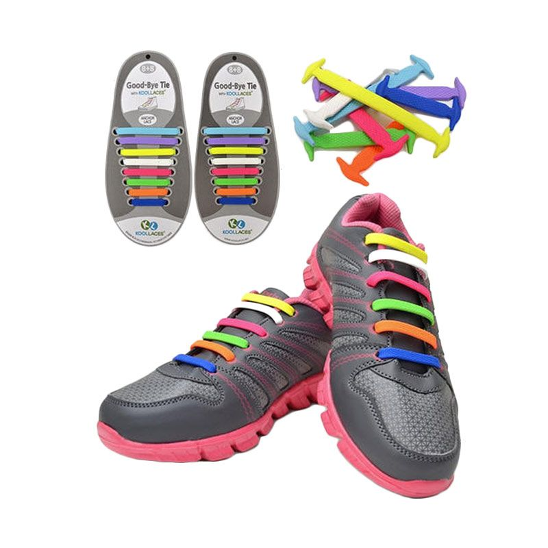 Koollaces Silicon Shoe Laces Rainbow Tali Sepatu