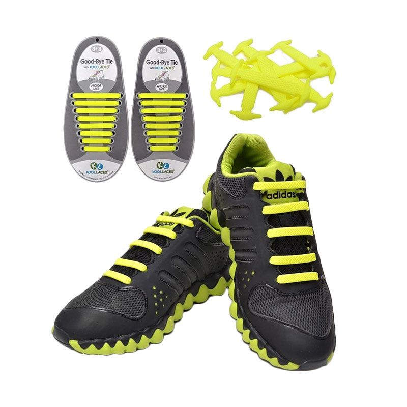 Koollaces Silicon Shoe Laces Yellow Tali Sepatu