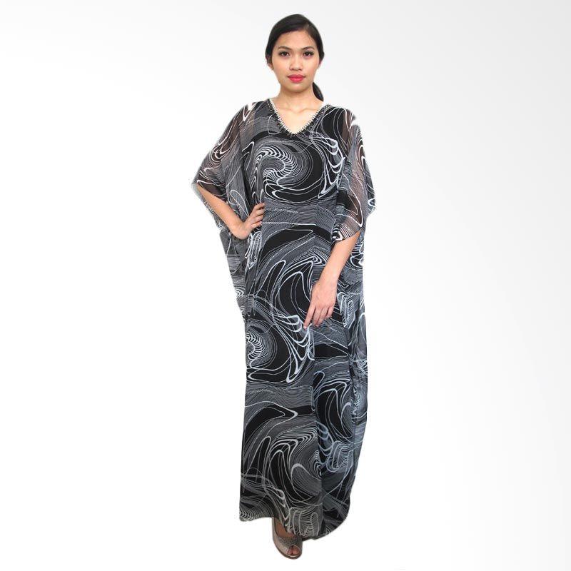 Ethereal Kaftan Gardenia Hitam Putih Dress Muslim