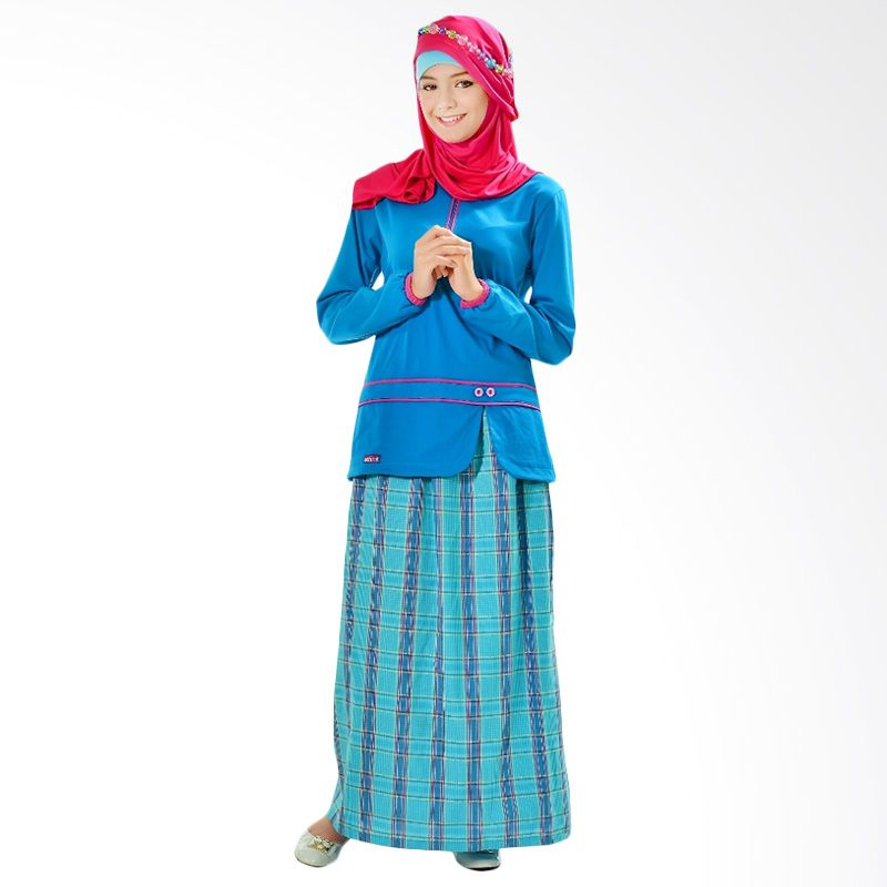 Ethica Fashion ST 92 Biru Dress Muslim