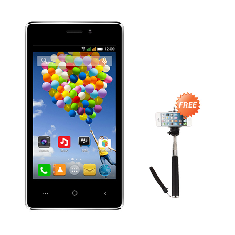 Evercoss A74A Winner T Smartphone - Hitam [8GB/ 1GB] + Free Tongsis