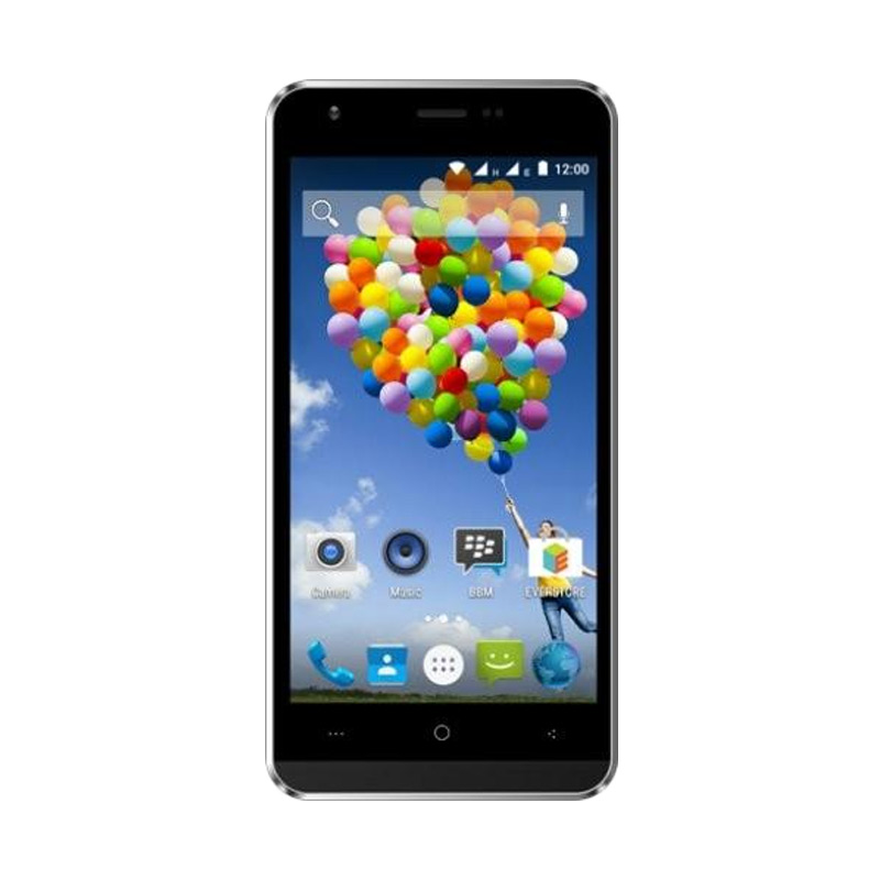 Evercoss A75 Smartphone - Hitam [1 GB/8 GB]