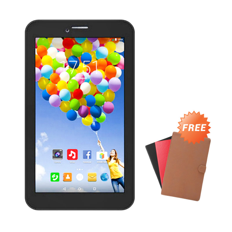 Evercoss AT7F Winner Tab S3 Tablet - Hitam [8 GB] + Free Cover