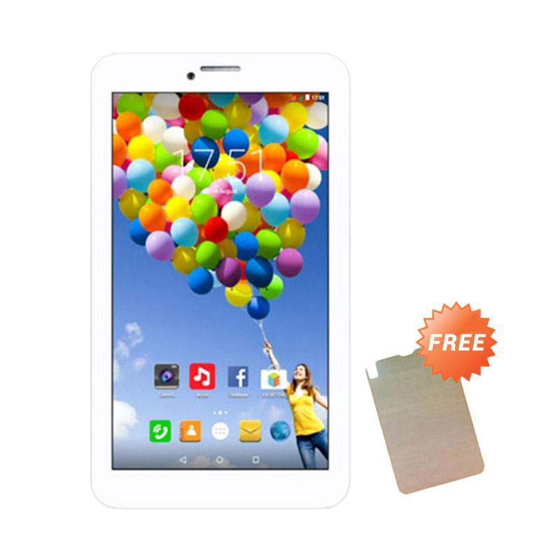 Evercoss AT7F Winner Tab S3 Tablet - Putih [8 GB] + Free Antigores