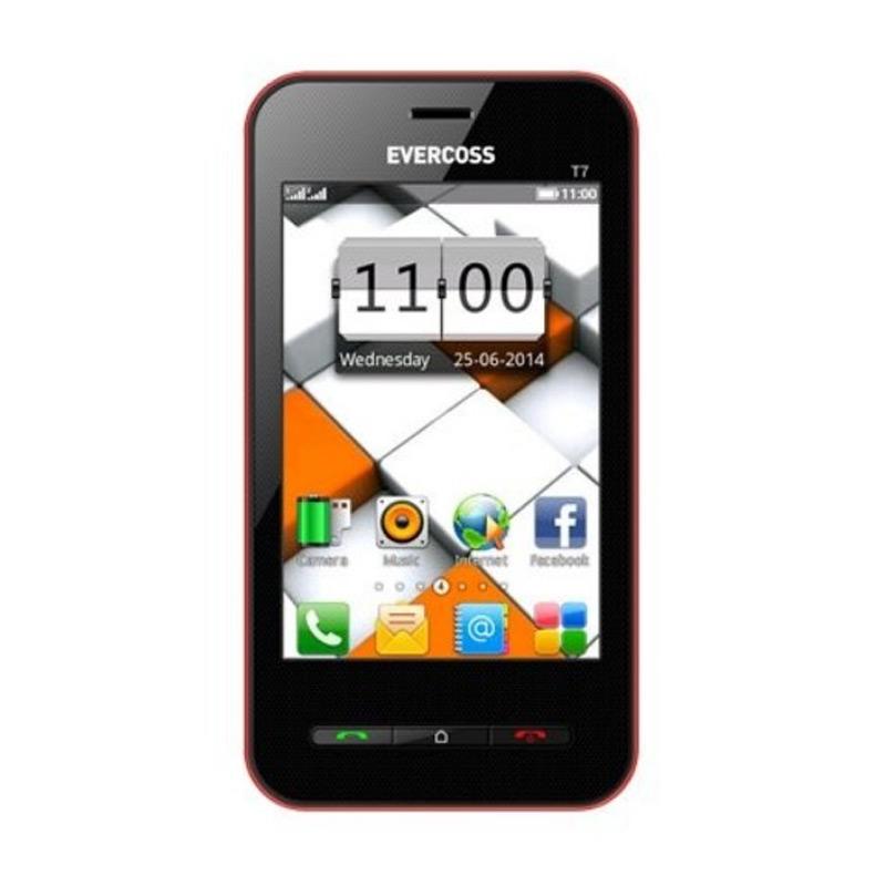 Evercoss T7 Handphone - Merah