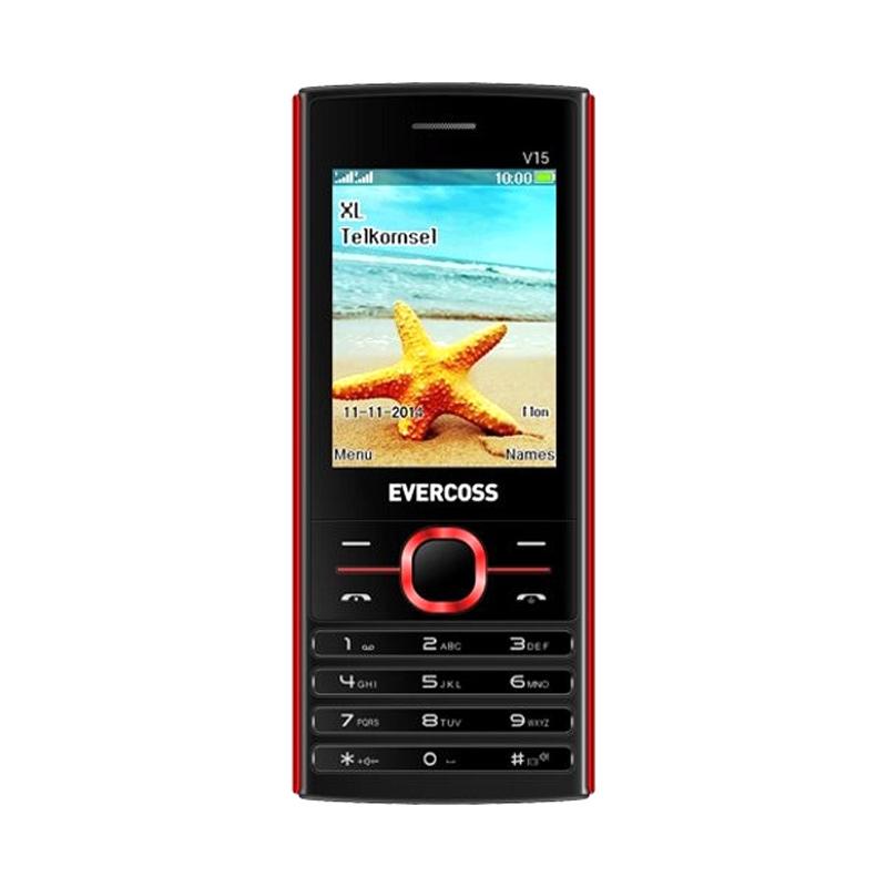 Evercoss V15 Handphone - Hitam Merah