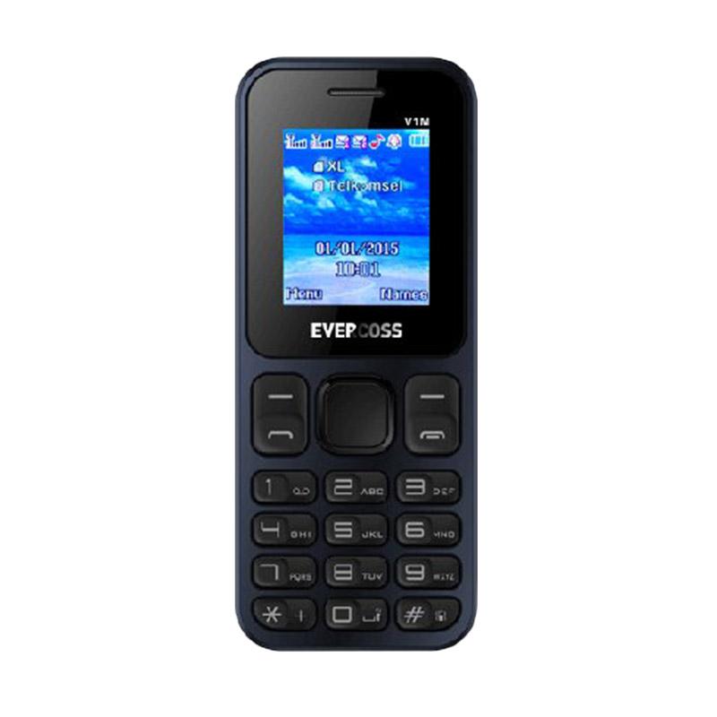 Evercoss V1M Handphone - Biru Hitam