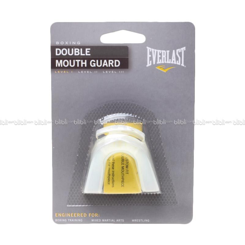 Everlast Double Mouthpiece Clear/B