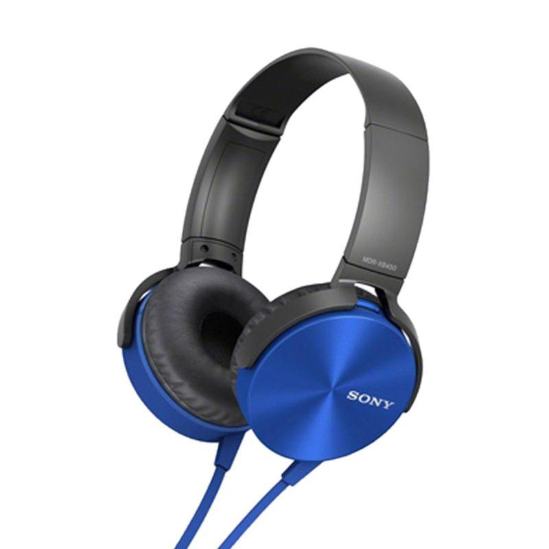 Sony MDR XB-450AP Extra Bass Biru Headphone