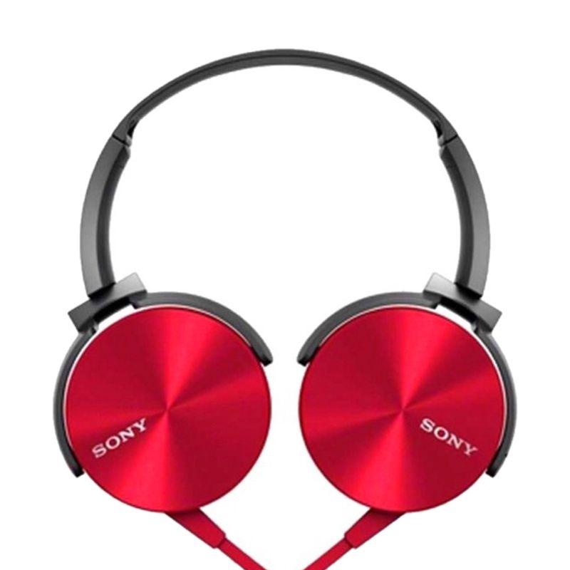 Sony MDR XB-450AP Extra Bass Merah Headset
