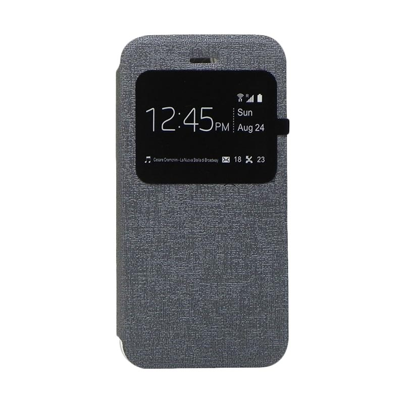 Excellence Enigma Grey Flip Cover Casing for Iphone 6 [4.7 Inch]