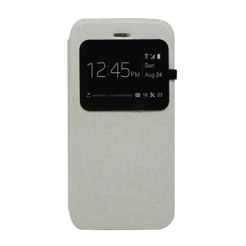 Excellence Enigma Silver Flip Cover Casing for Iphone 6 [4.7 Inch]