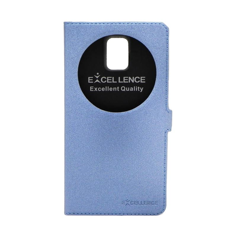 Excellence Eternity Biru Flip Cover Casing for Samsung Galaxy Note 4