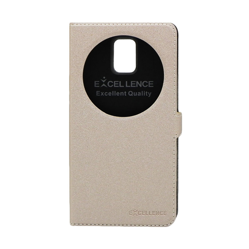 Excellence Eternity Gold Flip Cover Casing for Samsung Galaxy Note 4