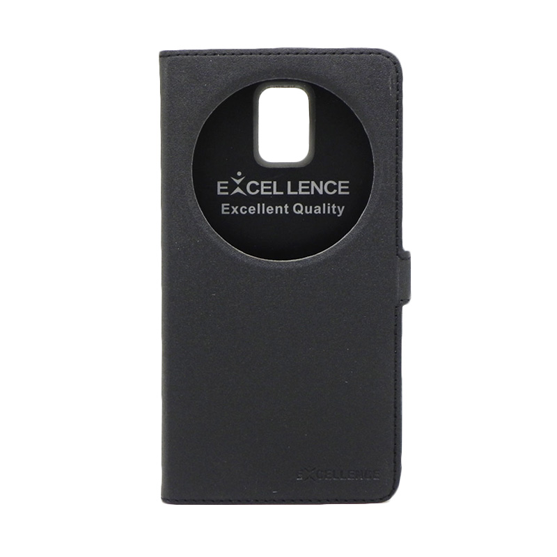 Excellence Eternity Hitam Flip Cover Casing for Samsung Galaxy Note 4