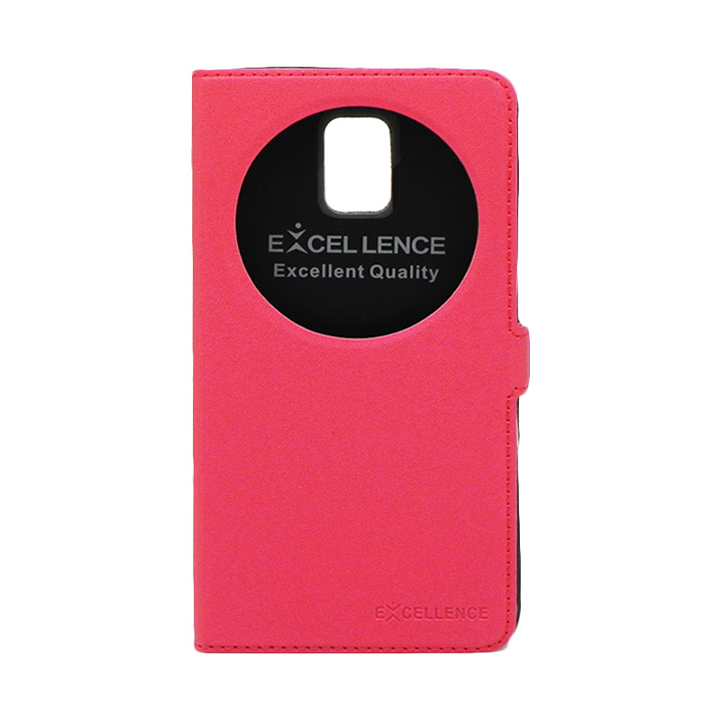 Excellence Eternity Merah Flip Cover Casing for Samsung Galaxy Note 4