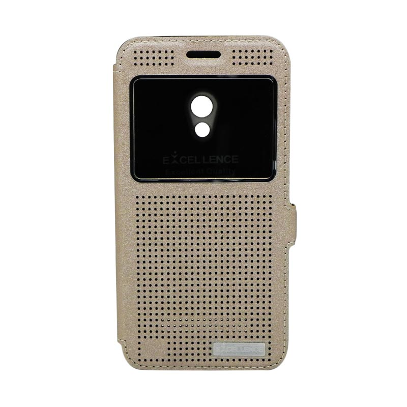 Excellence Firefly Gold Flipcover Casing for Asus Zenfone 5