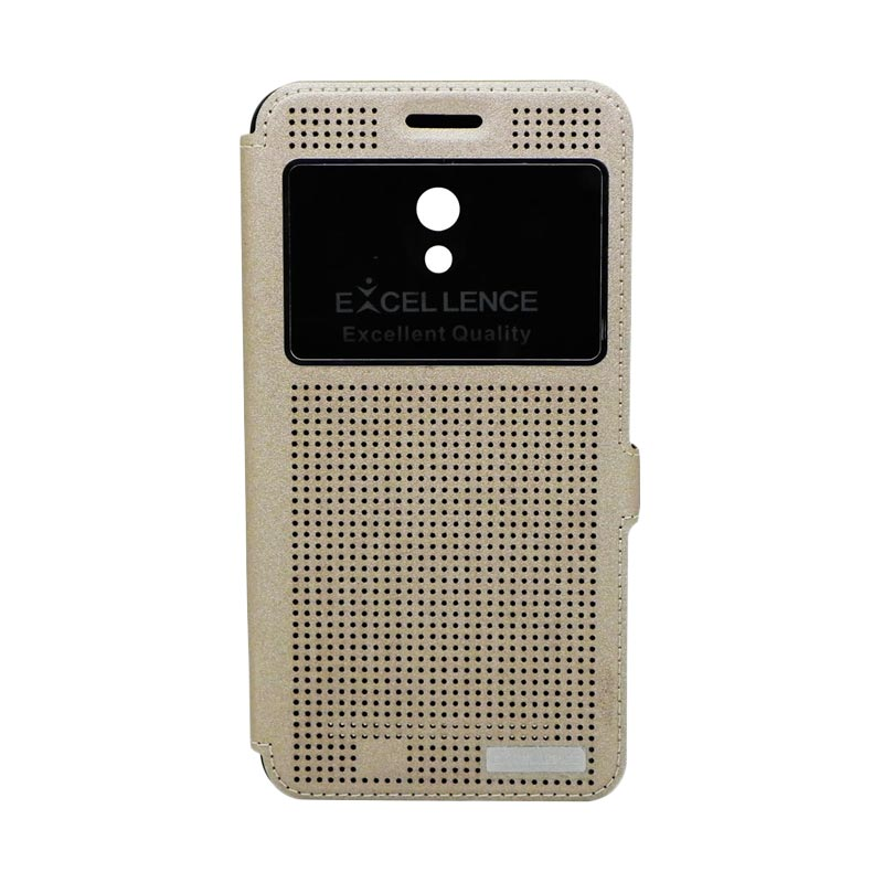 Excellence Firefly Gold Flipcover Casing for Asus Zenfone 6