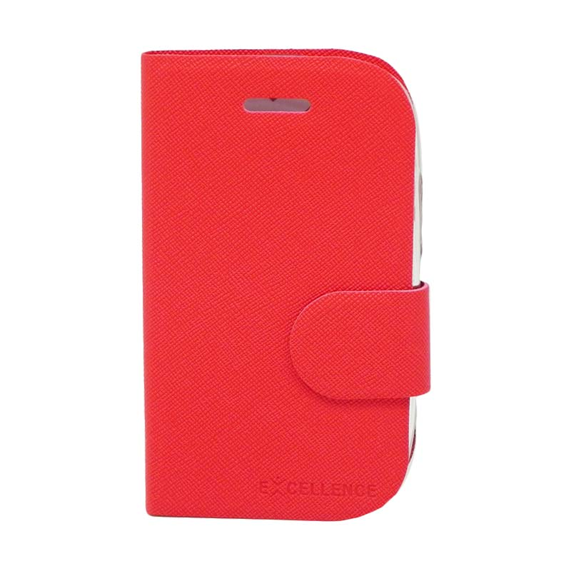 Excellence TPU Inside Flip Cover Casing for BlackBerry 9320 - Red