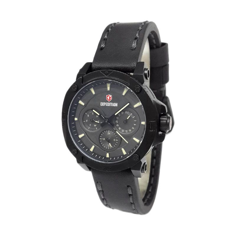 Expedition 6606BFLIPBAIV Black Jam Tangan Wanita