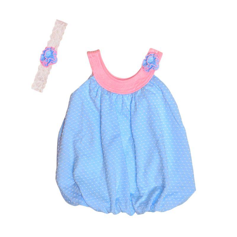 Eyka Ballon Polkadot Dress Anak