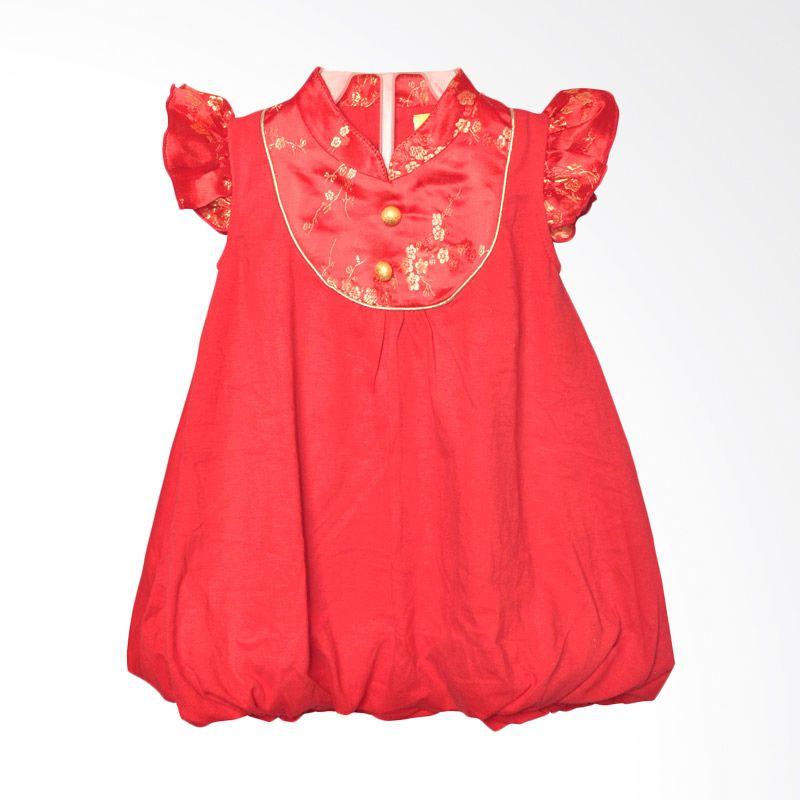Eyka Balloon Sincia Merah Dress Bayi