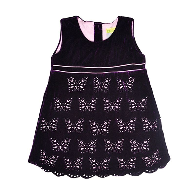 Eyka Laser Cut Butterfly Toddler Dress Anak