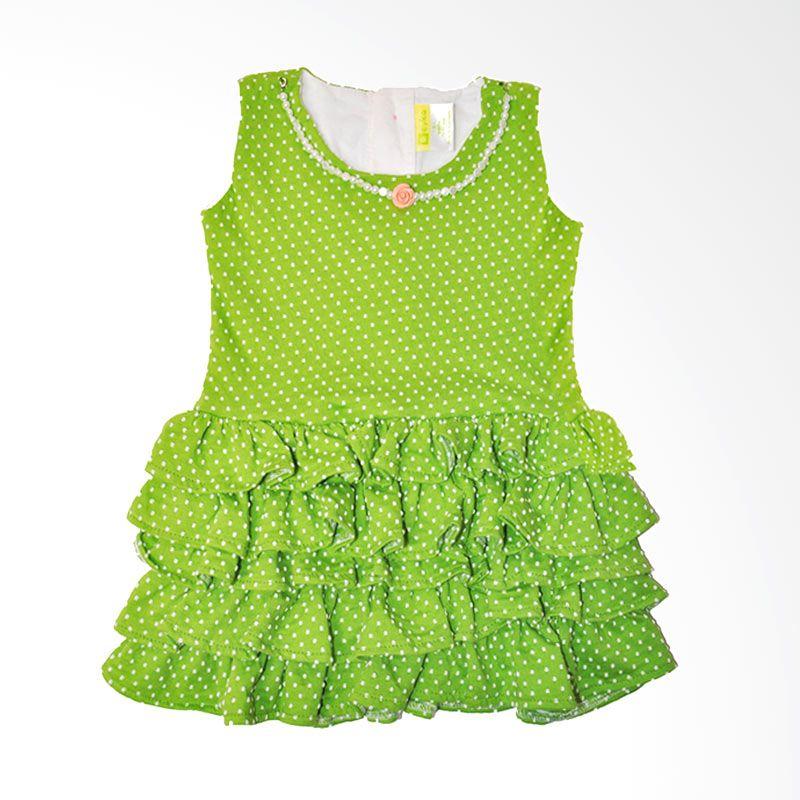 Eyka Onde Kalung Toddler Green Dress Anak