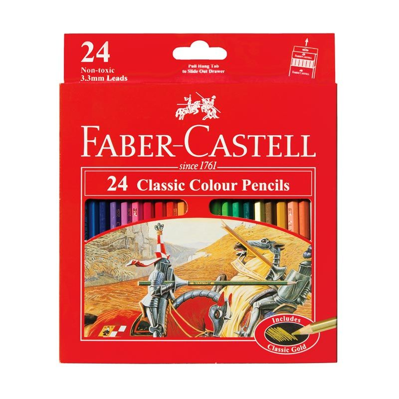 Faber Castell Classic 24 Colour Pencils Pensil Warna [Large]