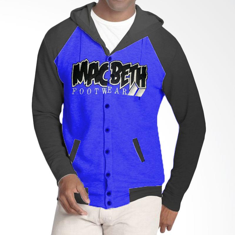 harga Fantasia MacBeth Footwear Button Jaket Hoodie Pria - Biru Blibli.com