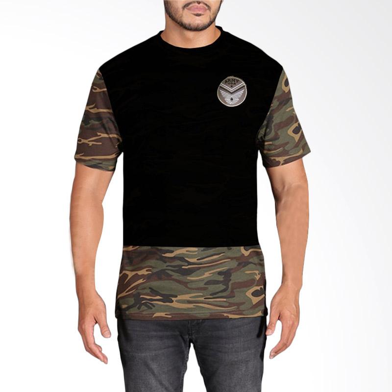 Fantasia Seals Military Camouflage T-Shirt Pria - Navy Extra diskon 7% setiap hari Extra diskon 5% setiap hari