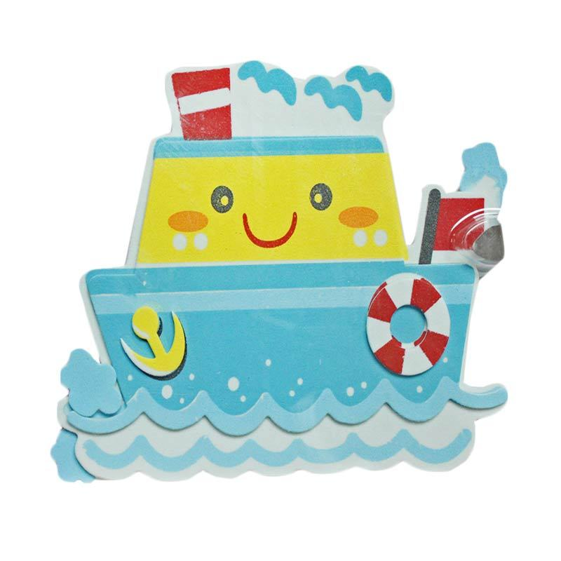 Crystal 3D Smiling Ship Wall Sticker