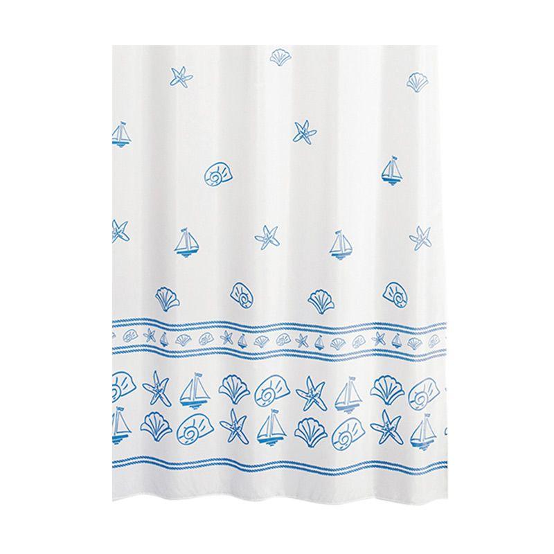 Crystal Polyester Shower Curtain Clara Tirai Kamar Mandi