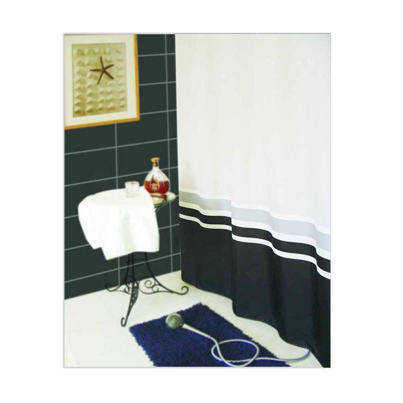 Crystal Polyester Shower Curtain New Ornamento Tirai Kamar Mandi