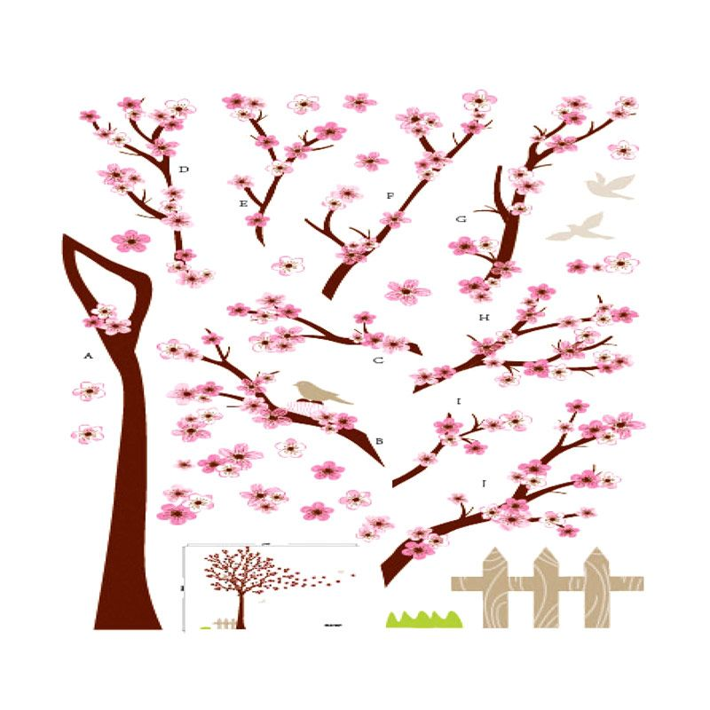 Crystal SAN Sakura Wall Sticker