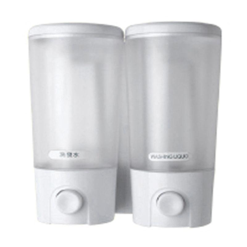 Crystal White Transparan Soap Dispenser Tempat Sabun [2x380 mL]