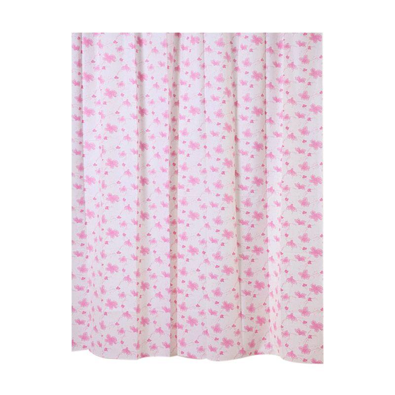 Fantasy Peva Shower Curtain Reddish Tirai Kamar Mandi