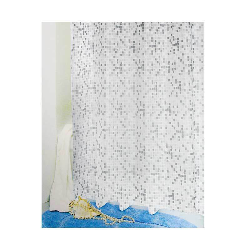 Fantasy PEVA Shower Curtain Silver