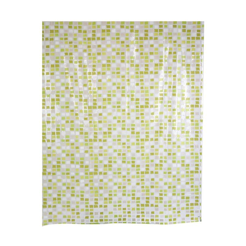 Fantasy PVC Printed Mozaic Shower Curtain Tirai Kamar Mandi