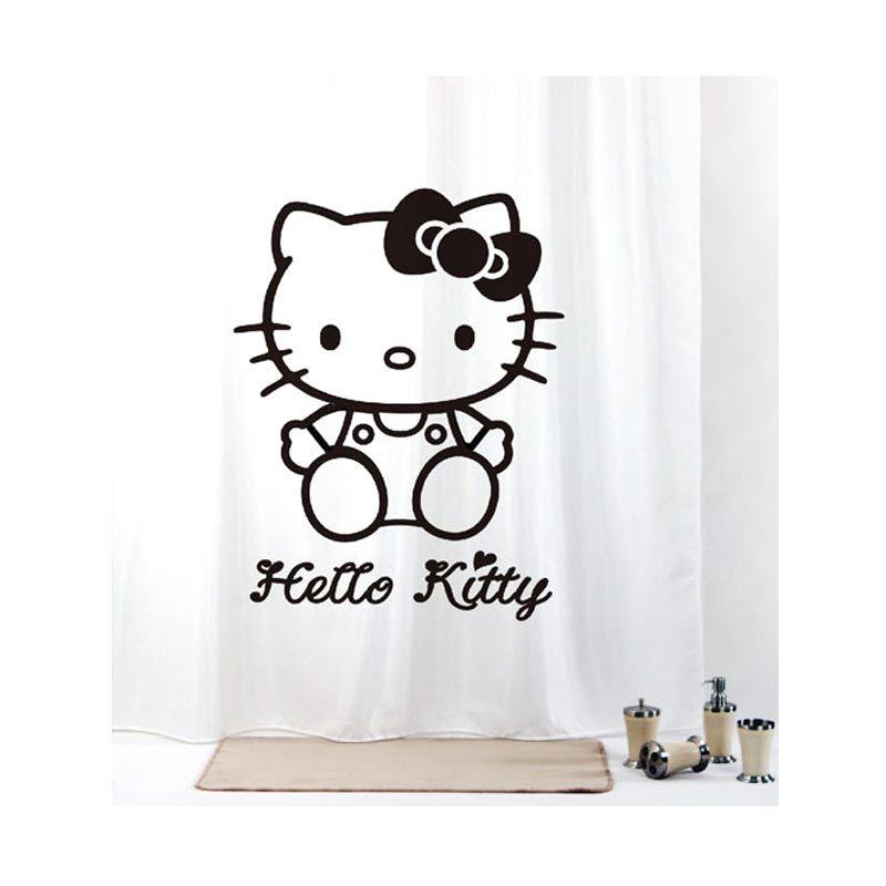 Fantasy Sanrio Polyester Curtain 180 x 180 cm Kitty Black