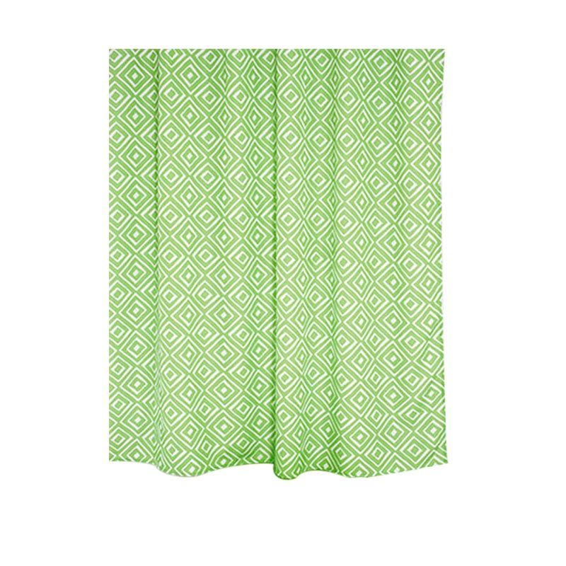 Fantasy Textile Polyester Grad Green Shower Curtain Tirai Kamar Mandi