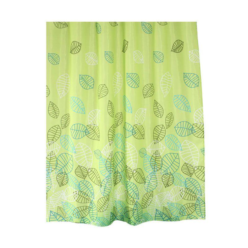 Fantasy Textile PolyesterLeaf of Sampe Multicolor Shower Curtain Tirai Kamar Mandi